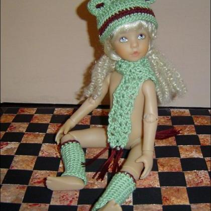 Froggy 3Pc Crochet Set Pattern in P..