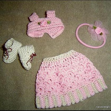 4PC Miniature Crochet Pattern Small..
