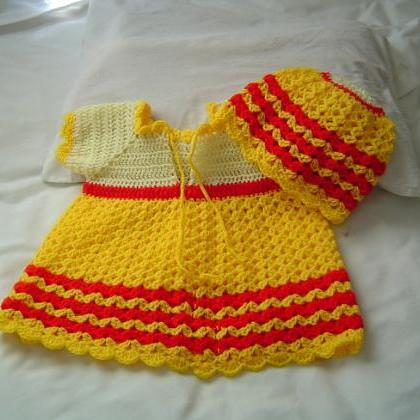 03-06 Months Crochet Baby Dress and..