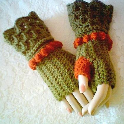 Autumn Fingerless Glove Pattern Win..