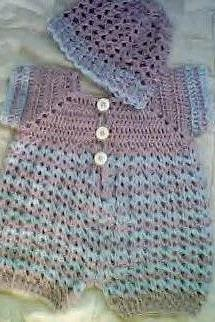Baby Boy Crochet Blue Kisses Romper Set by CarussDesignz 0024B