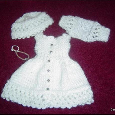 0046 4PC Little Darlings Miniature Knitting and Crochet Pattern 13 inch Effner / Minouche 13 inch Dolls